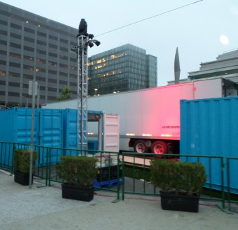 Even the SF shipping containers are blue.