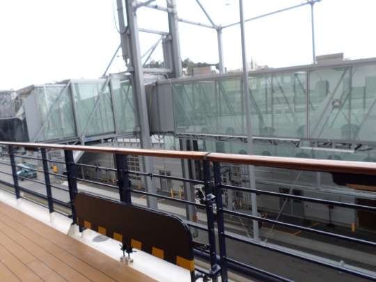 Ramp from port to deck