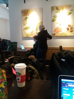 Pre-Class Prep at Starbucks Across the Street
