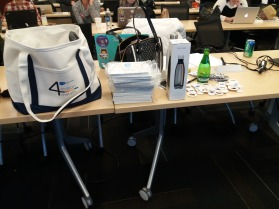 Our Chicago User Group Community Leader brought us Swag